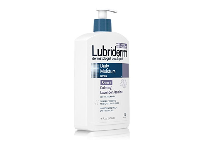 Lubriderm Daily Moisture Lotion for Dry Skin, Enriched with Nourishing Shea Butter, Vitamin B5, and Calming Lavender Jasmine, Non-Greasy 16 fl. oz (Pack of 3) - 2