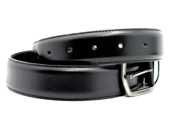 Buy Luca D'altieri Italian Made Mens Leather Belt Black