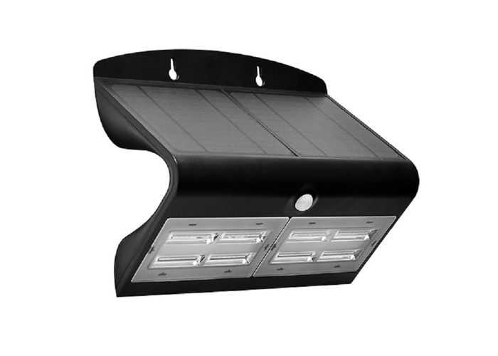 Luceco IP44 Rated Solar Guardian Wall Light, Black - 1
