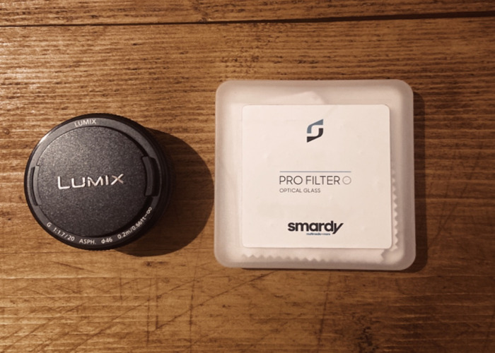 Lumix 20mm 1.7 lens with filter - 1