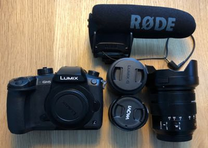 Lumix GH5 with lenses and Rode Mic  - 1