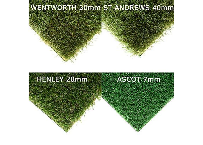 Realistic Green Garden 30mm Deluxe Artificial Grass Astro Lawn Plastic Turf