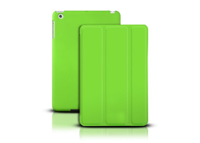LUPO Ultraslim iPad Mini 1 2 3 Tri-Fold Smart Stand Full Body (Front and Back) Cover Case with Auto Sleep/Wake Function (Green) - 1