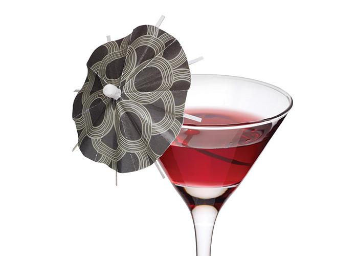 Luxe Lounge Cocktail Umbrellas - Pack of 12   Paper Umbrellas, Paper Parasols - 1