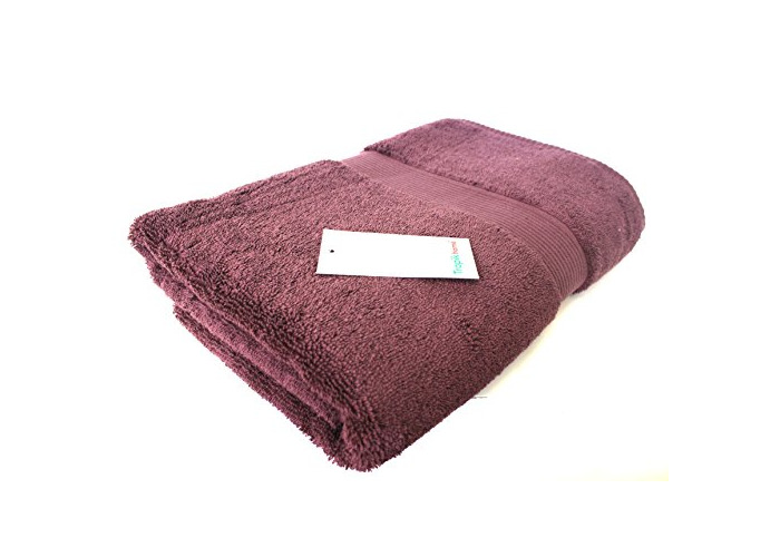 Luxury Egyptian Cotton Bath Towels , Soft and Absorbent, Various Colours , 600gsm, Made in Turkey (Damson) - 1