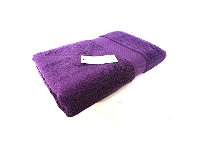 Luxury Egyptian Cotton Bath Towels , Soft and Absorbent, Various Colours , 600gsm, Made in Turkey (Purple) - 1