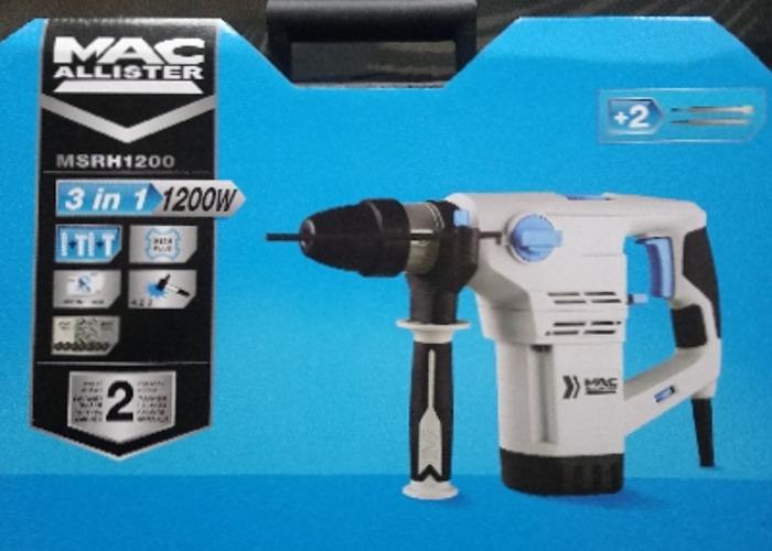 MacAllister MRSH1200 : 3 in 1 SDS Hammer Drill - 1
