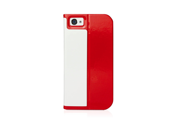 Macally SCASER-P5 Slim Folio Case and Stand for iPhone 5 - Red - 2