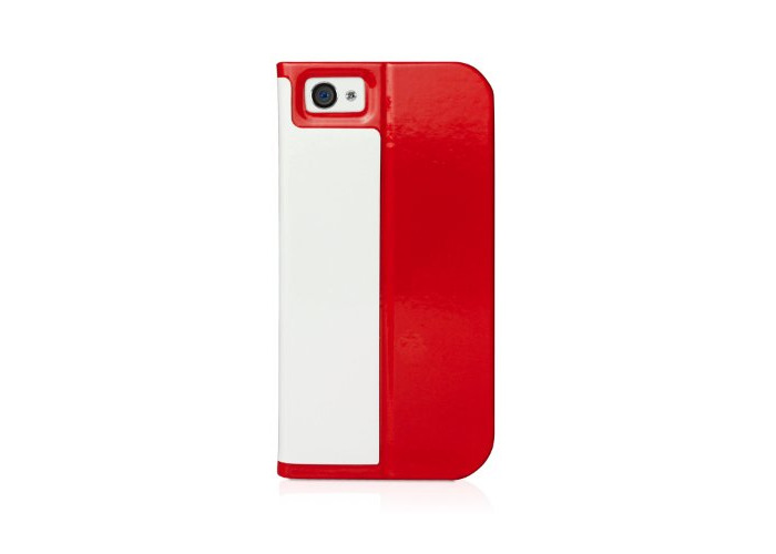 Macally SCASER-P5 Slim Folio Case and Stand for iPhone 5 - Red - 1