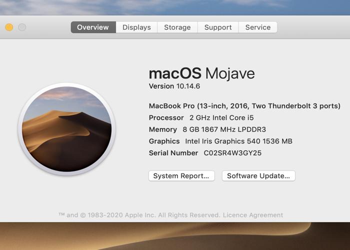 """MacBook Pro 13"""" 2016 i5 2.0GHz 8GB RAM - 2"""