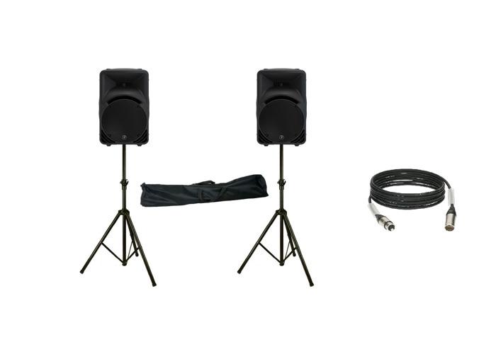 Mackie speakers + tripod + xlrs wire - 1