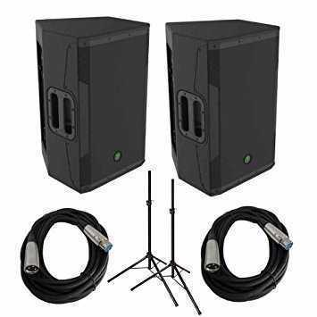Mackie Srm 550 Speakers Pair with Mixer and Microphone - 1