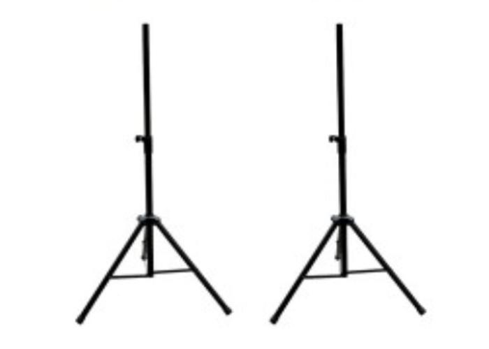 Mackie SRM450 (V1) Active Loudspeakers on stands (pair) - 2