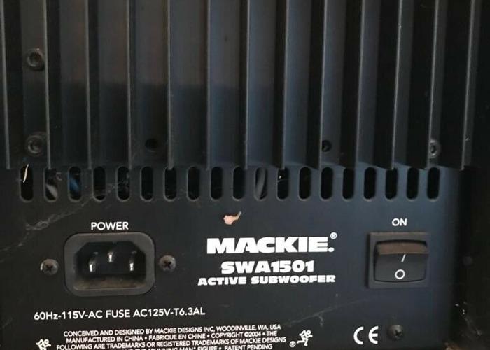 Mackie SWA1501 Active Subwoofer  - 2