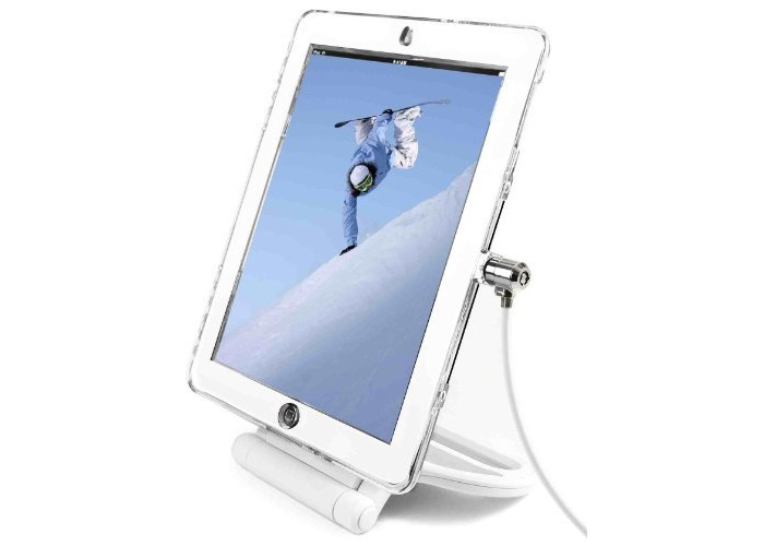 Maclocks Lock and Security Rotating Stand for Apple iPad 2/3/4 - White - 2