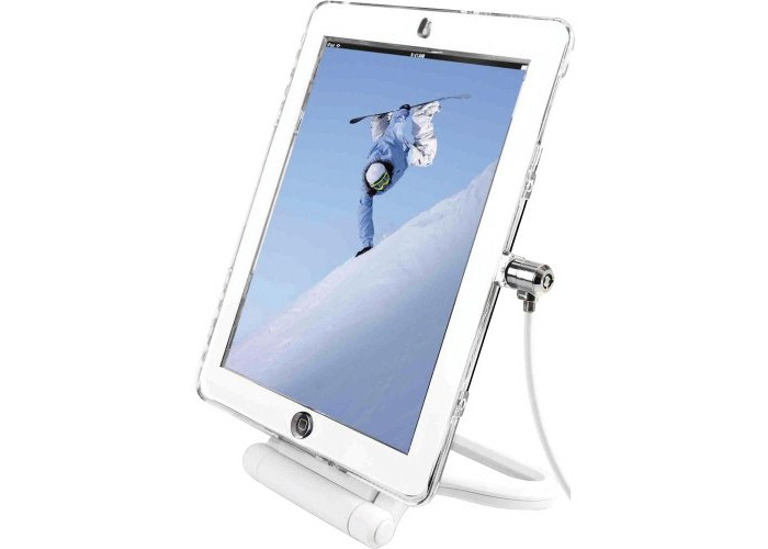 Maclocks Lock and Security Rotating Stand for Apple iPad 2/3/4 - White - 1