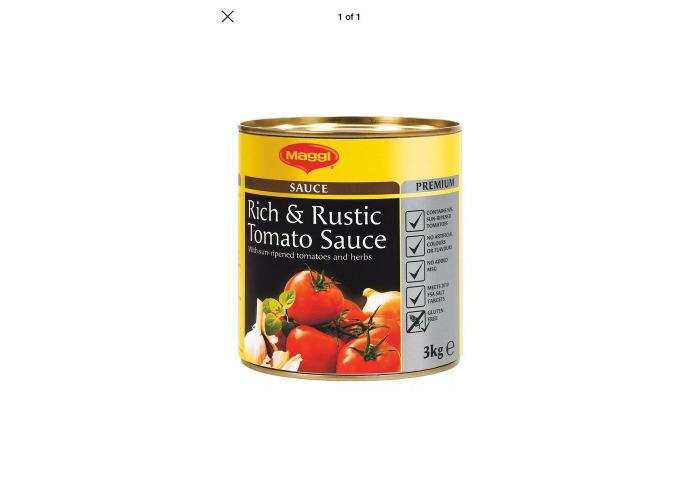 Maggi Rustic Tomato Sauce Gluten Free - 1x3kg CHEAPEST BARGAIN - 1