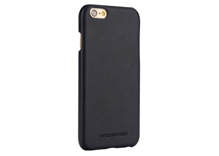 MagniPretti Genuine Luxury Leather Hard Cover Case for iPhone 6 / 6s - Black - 2