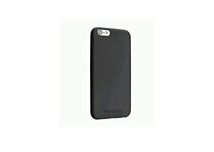 MagniPretti Genuine Luxury Leather Hard Cover Case for iPhone 6 / 6s - Black - 1