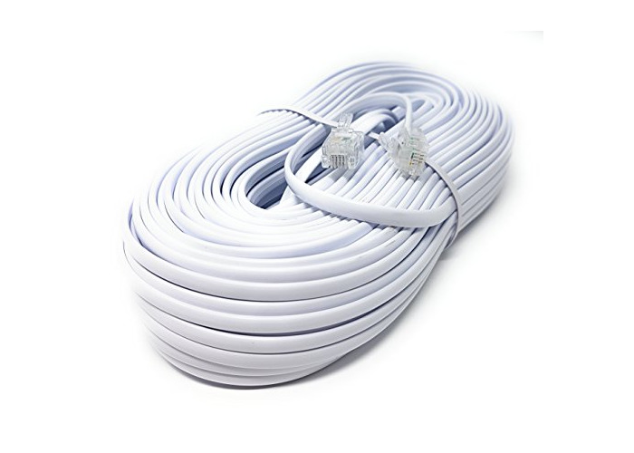 LONG ADSL 2 High Speed Broadband Modem Cable RJ11 to RJ11 Wire BLACK 1-20m