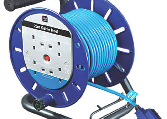Details about  /4WAY 5M//10M//25M//50M CABLE EXTENSION REEL LEAD MAINS SOCKET HEAVY DUTY ELECTRICAL