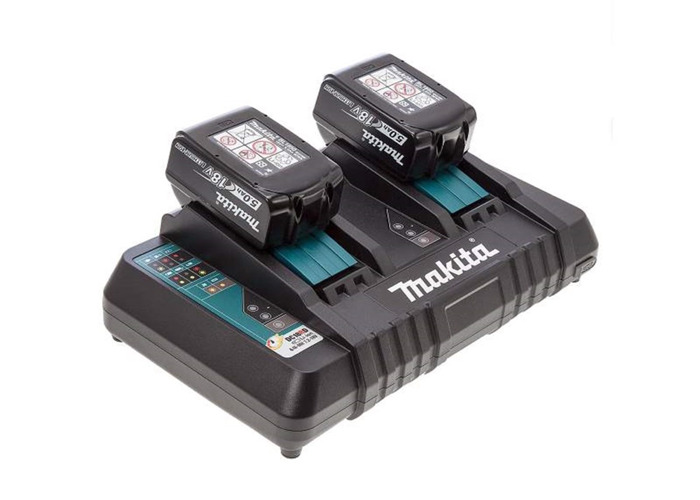 Makita 2 5ah Batteries and twin charger - 1