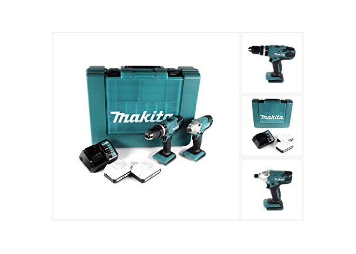 Makita DK18015X1 Combo Kit-Multicolour, 18 V (Set of 2 Piece) - 1