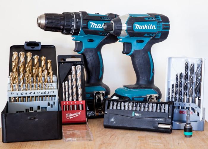 Makita drill + Impact driver including all bits - 1