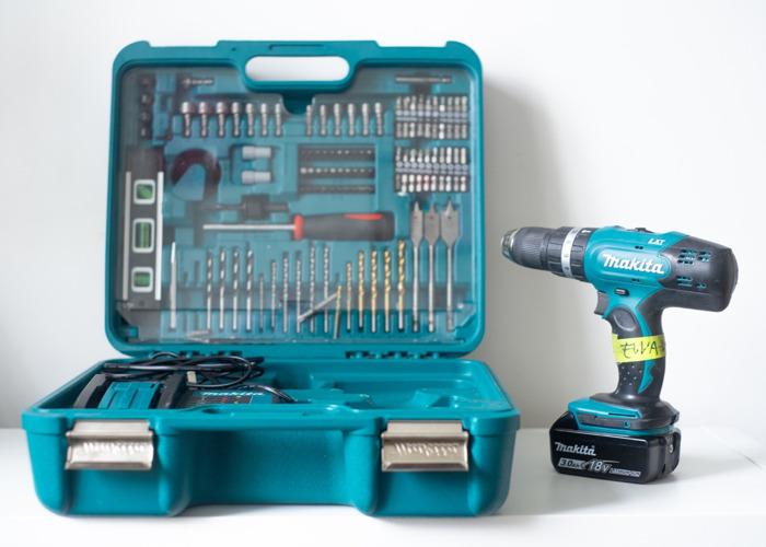 Makita 18V Hammer Driver Drill Set (inc. bits + tools) - 1