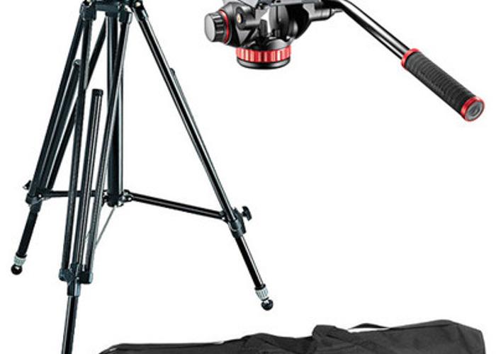 Manfrotto 502HD Pro Video Head & 028B Studio Pro Triman Tripod Kit - 1