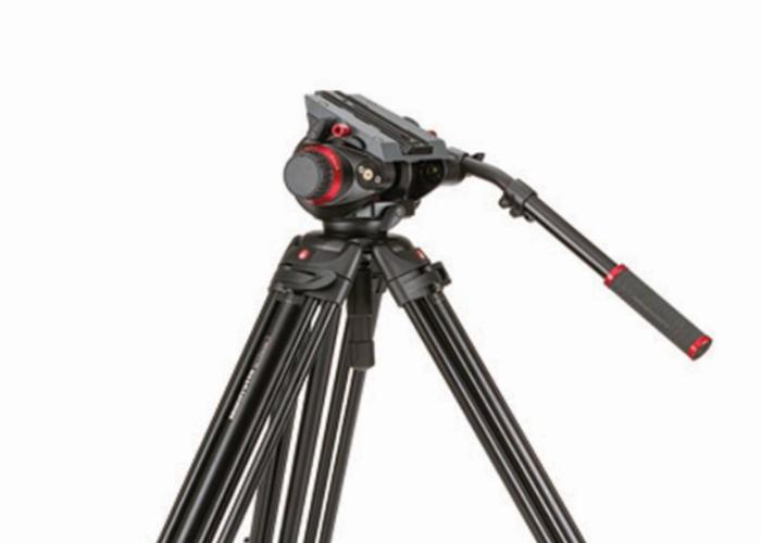 Manfrotto 504HD 546GBK Video Tripod - 1
