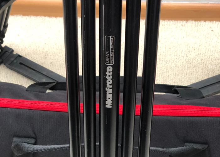 Manfrotto 525MVB Tripod with 503 Fluid Head & bag - 2