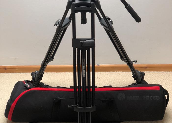 Manfrotto 525MVB Tripod with 503 Fluid Head & bag - 1