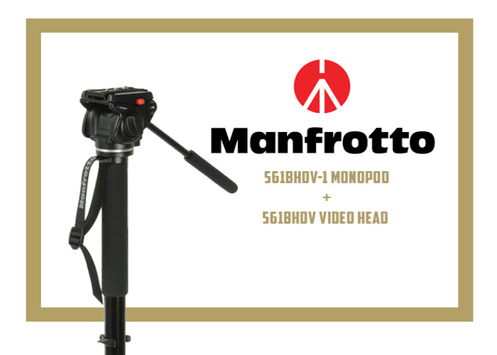 MANFROTTO 561BHDV-1 VIDEO MONOPOD - 1