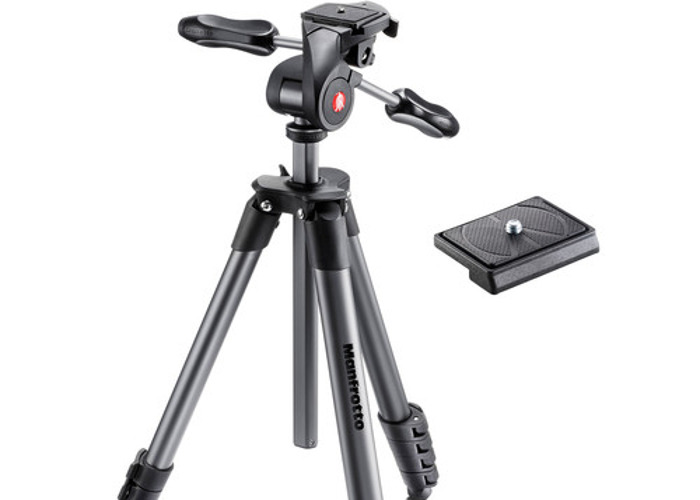Manfrotto Compact Advanced Aluminium Tripod with 3 Way Head - 1