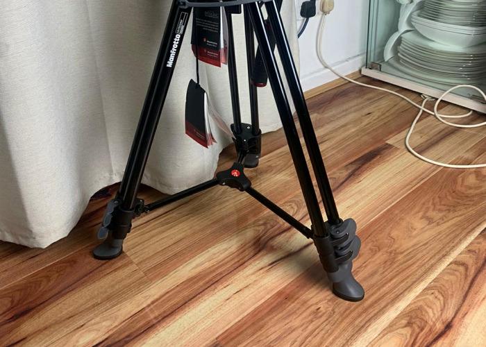 Manfrotto heavy duty film tripod with fluid head. - 2