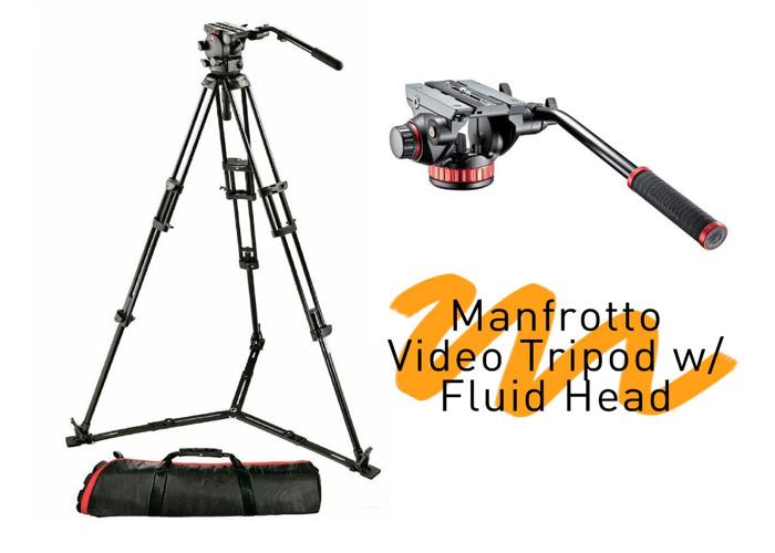 Manfrotto Heavy Duty Video Tripod w/ Fluid Head - 1