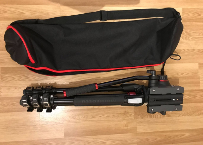 Manfrotto Tripod with fluid 502AH video head - 2