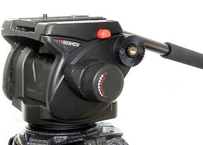Manfrotto tripod 503HDV fluid head and 3 stage legs - 2