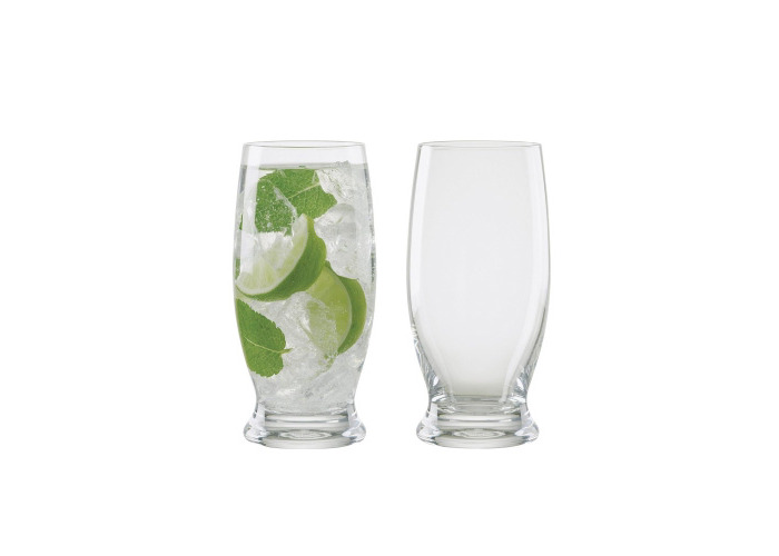 Manhattan Long Drink Glasses, Set of 2, Transparent - 1