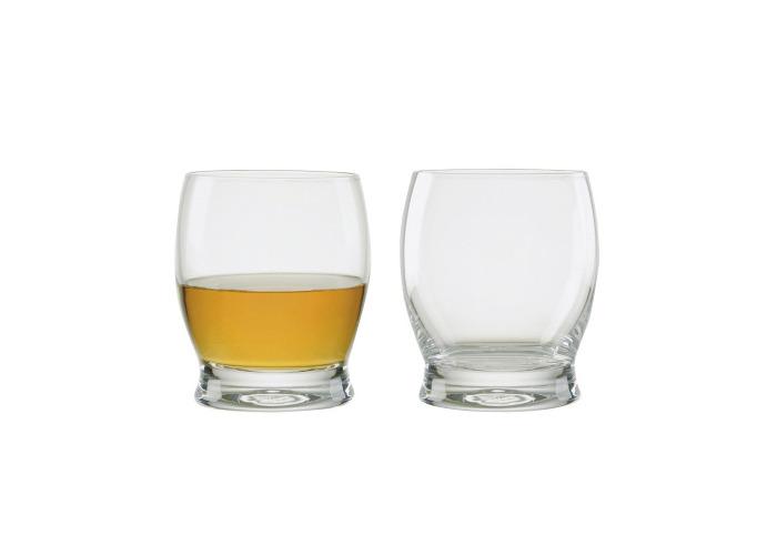 Manhattan Whisky Glasses, Set of 2, Transparent - 1