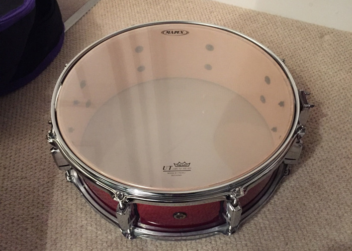 Mapex Meridian Birch Cherry Red Snare Drum (14 inch) - 1