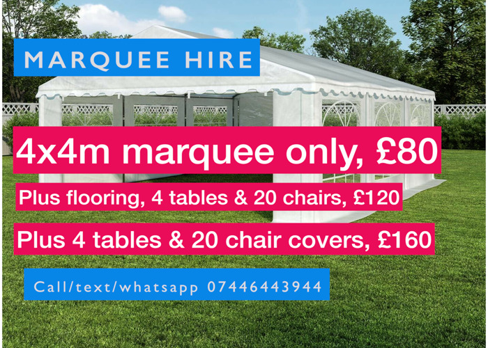 Marquee or gazebo hire - 1