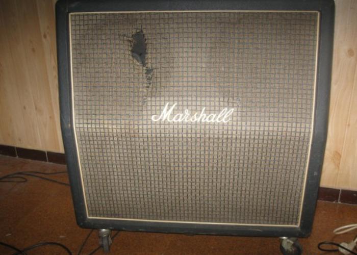 "MARSHALL 4x12"" 1960a speaker Cabinet 1974 Greenbacks - 1"