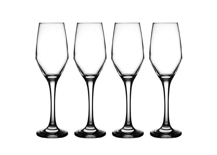 Mason Cash 0041.387 Ravenhead Majestic Set of 4 Prosecco/Champagne Flutes 21Cl, Clear - 1