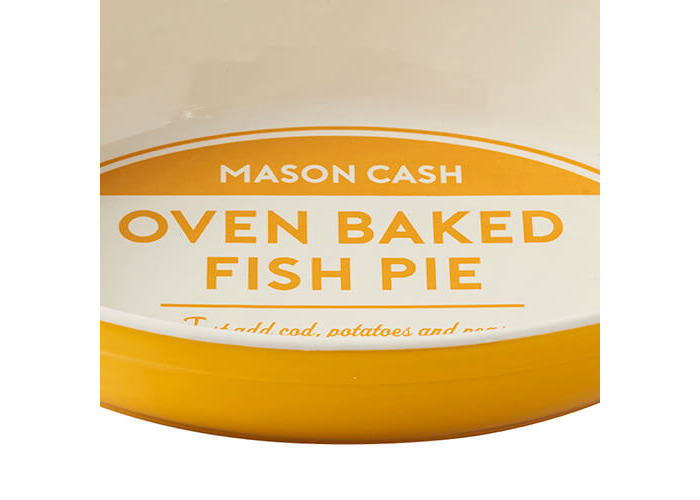 Mason Cash Authority Chip Resistant Earthenware Oval Baking Dish, Yellow, 28 cm - 2