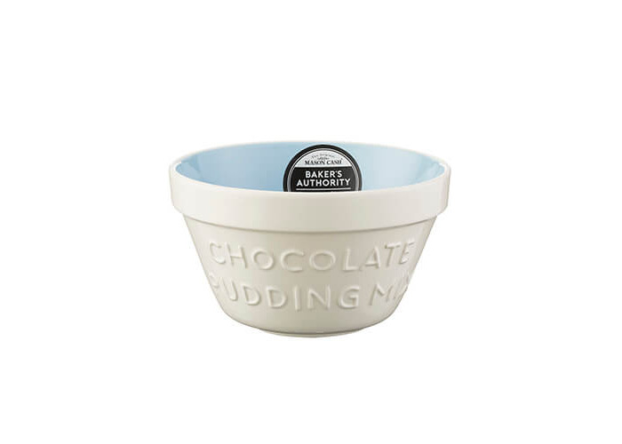 Mason Cash Baker's Authority S36 (16cm) Chip Resistant Earthenware Pudding Basin, Ceramic, Cream/Blue, 18 x 18 x 9 cm - 2