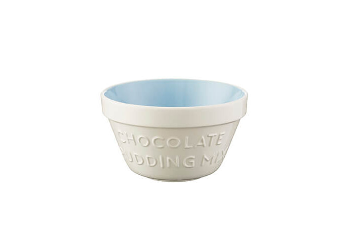 Mason Cash Baker's Authority S36 (16cm) Chip Resistant Earthenware Pudding Basin, Ceramic, Cream/Blue, 18 x 18 x 9 cm - 1