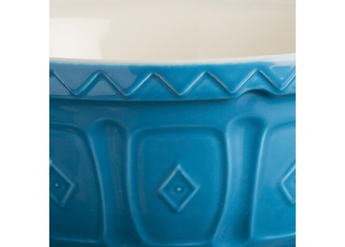 Mason Cash colour Mix Azure S18 Chip Resistant Earthenware 26cm Mixing Bowl - 2