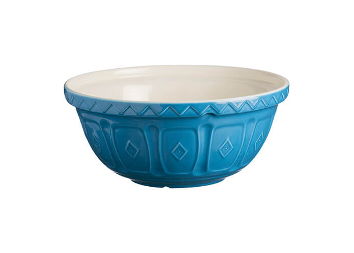 Mason Cash colour Mix Azure S18 Chip Resistant Earthenware 26cm Mixing Bowl - 1